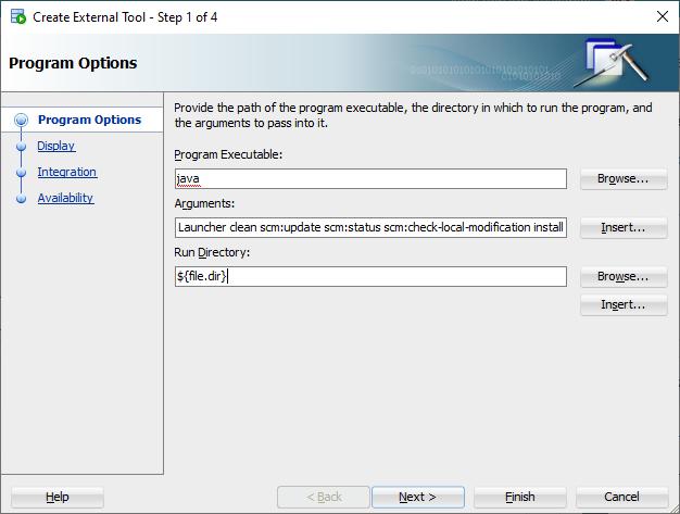 Maven scm:update install