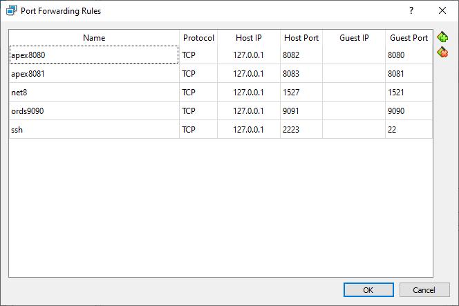 port forwarding rules for VM VM19