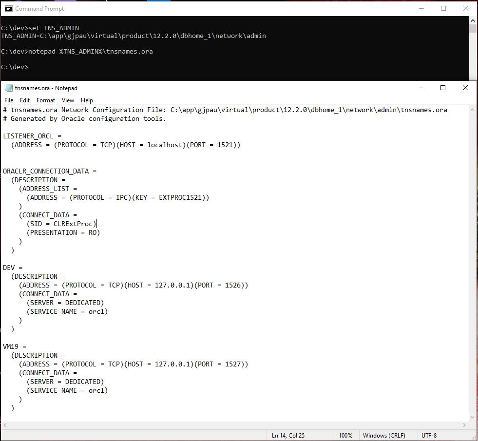 SQL*Net TNSNAMES configuration